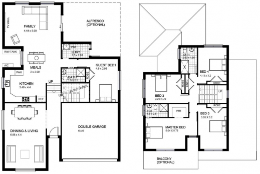 Best Two Storey House Plans Home Design Ideas Two Storey House Plan Pic