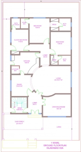 Fantastic 1000 Images About Architecture On Pinterest 3 Bedroom Flat Plan On Half Plot Image