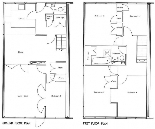 Fascinating 2 Bedroom 2 Bath Floor Plans 3 Bedroom Bungalow Floor