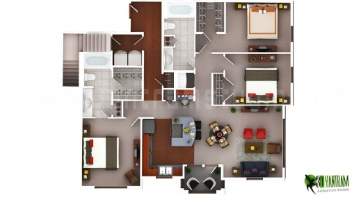 Fantastic 3d Floor Plan Design Interactive Designer Planning For 2d Home Residential House Floor Plan Pic