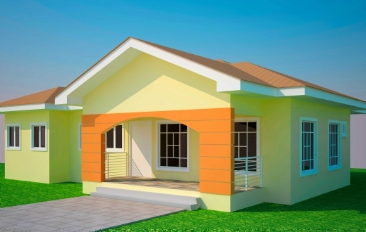 Fantastic House Plans Ghana 3 Bedroom House Plan For A Half Plot In Ghana 3 Simple 3bedroom House Plans On Half A Plot Pic