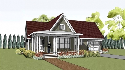 Fantastic Simple Yet Unique Cottage House Plan With Wrap Around Porch Small Farmhouse Plans Wrap Around Porch Image