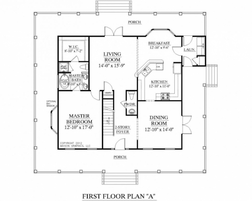 Fascinating 2 bedroom 2 bath floor plans 3 bedroom for Two bedroom bungalow plans