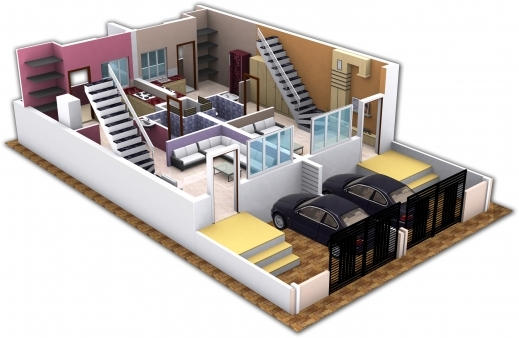 Building plans 4 bedroom house 3d house floor plans - Modernbedroombathroom house plans ...
