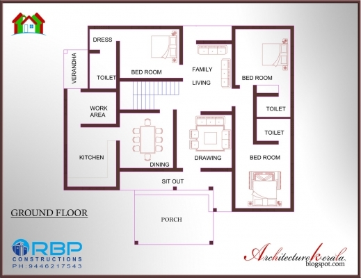 Fascinating Kerala Style 3 Bedroom Single Floor House Plans Home Decor 3 Bedroom Kerala House Plans Pic