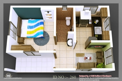 Fascinating Micro Homes Living Small Floor Plans 3d Isometric Views Of Small Smallest House Plan Images