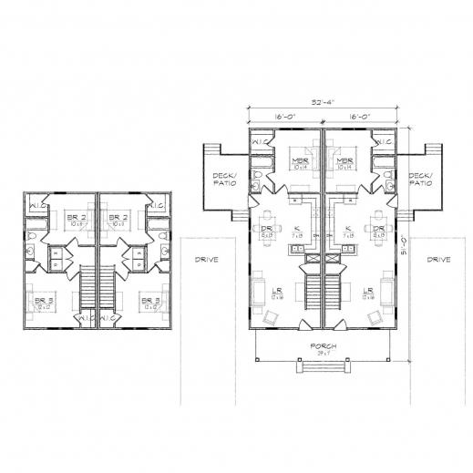 Fascinating Nowell Duplex Prairie Floor Plan Tightlines Designs Duplex Floor Plan Photos