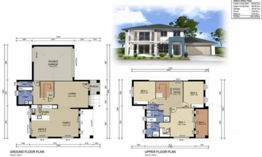 Fascinating Small House Plan 3d Home Design House Floor Plan Design Small Residential House Floor Plan Photo