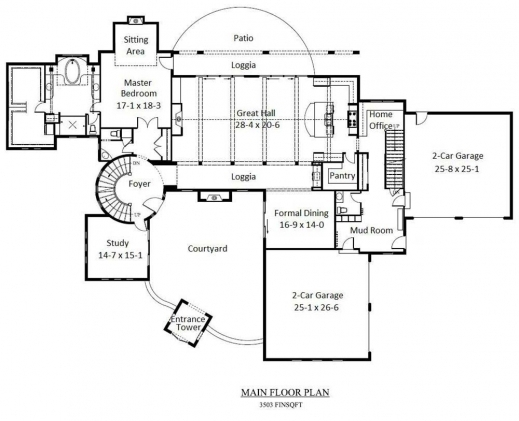 Fascinating Wide Tuscan House Plans With 3 Luxury Bedroom Layout Homescorner 3 Bedroom Tuscan Plans Images
