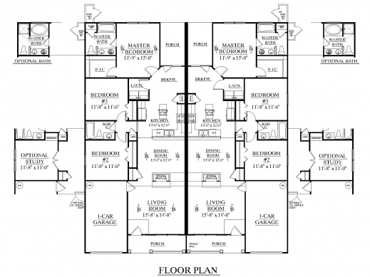 Fantastic Duplex Floor Plans With Garage Lcxzz Duplex Floor Plan
