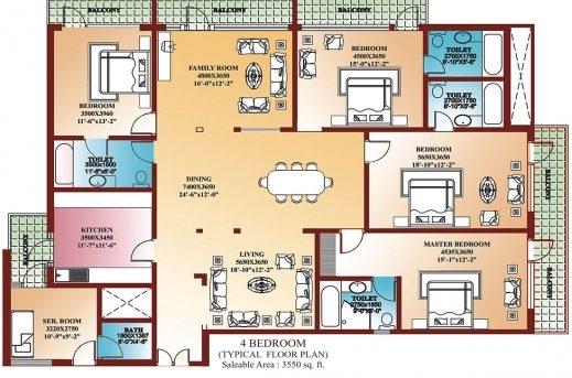 Gorgeous 4 Bedroom Home Floor Plans Lcxzz Four Bedroom Floor Plan Image