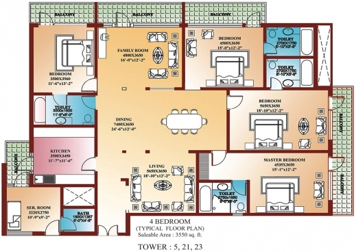 Gorgeous 4 Bedroom Home Floor Plans Lcxzz Four Bedroom Floor Plan Image