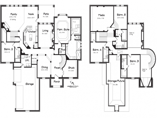 Gorgeous 5 Bedroom 2 Story House Plans Arts 2 Storey 5 Bedroom House Plans  Photos