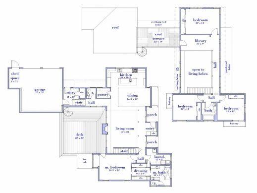 Gorgeous Modern 2 Story House Floor Plan Simple Two Story House Modern 2 Modern House Besment Plans 2016 Photo
