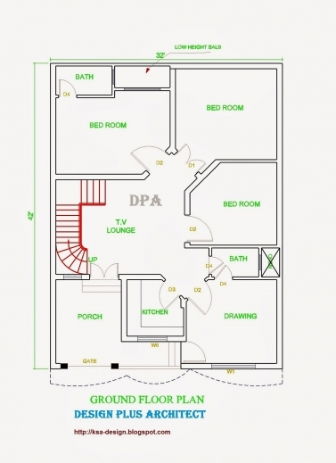 Gorgeous Modern Home 2d Drawing Floor Plan With 3 Bedrooms House Plan And Www 2d Home Plan 2016 Images