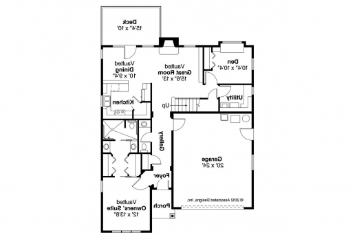 Gorgeous Riverton 30 811 Cottage Home Plan Associated Designs 3 Bedroom Flat Plan On Half Plot Images