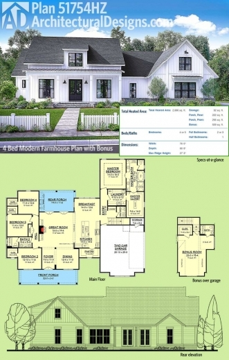Modern Farmhouse Plans House Floor Plans