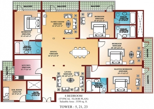 Incredible 1000 Images About 4 Bedroom Single Family Blue Prints On Pinterest Four Bedroom House Floor Plan Picture