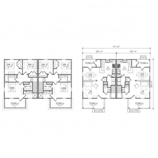 Incredible Freeman Duplex Prairie Floor Plan Tightlines Designs Duplex Floor Plan Images