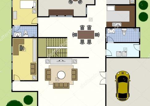 Incredible Ground Floor Plan Floorplan House Home Stock Vector 74222734 Floor Plan Building House Photo
