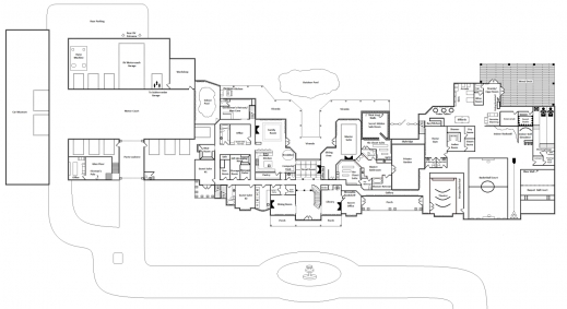 Incredible mega mansion floor plans with dimensions for Mega mansion house plans