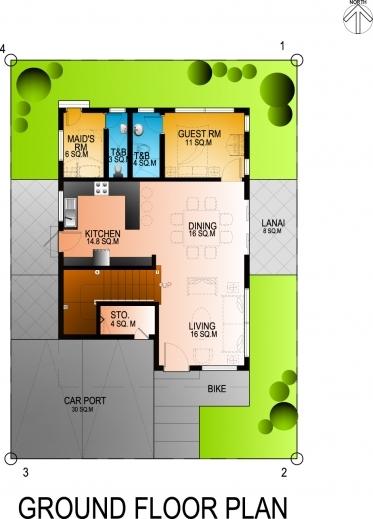 Incredible Residential 4bedroom 2 Storey House Exercise Eugene T Mangubat Residential House Floor Plan Pics