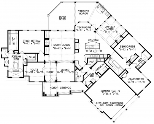 Luxury chalet house plan house floor plans for French chalet house plans