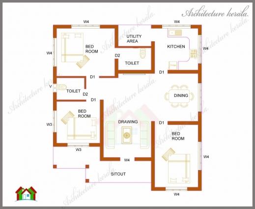 Inspiring A Small Kerala House Plan Architecture Kerala Crystal House 3 Bedroom Kerala House Plans Image