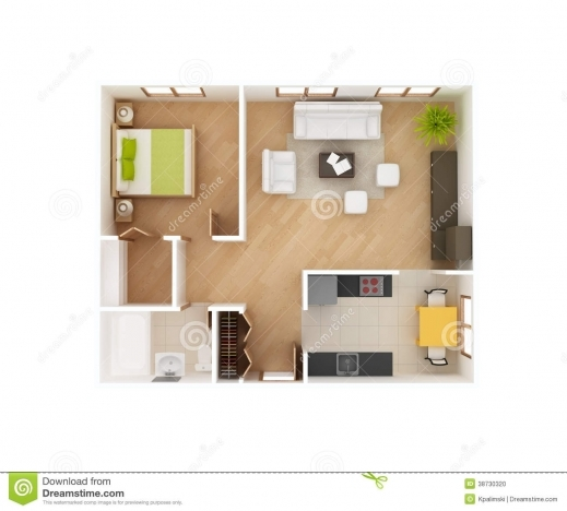 Inspiring Basic 3d House Floor Plan Top View Stock Photo Image 38730320 Top House Plans Photos