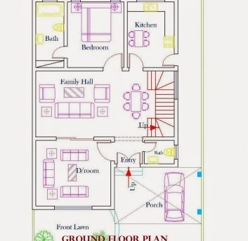 inspiring home plans in pakistan home decor architect designer 2d home plan 2d house plans with - 2d Home Plan