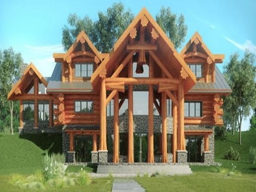 Inspiring log home floor plans canada log cabins and log for Log cabin furniture canada