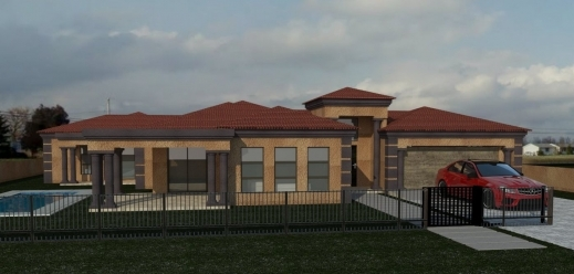 Marvelous 3 bedroom tuscan house plans in south africa for Modern house plans south africa pdf