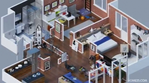 Marvelous Apartment Designs Shown With Rendered 3d Floor Plans Youtube 3D Apartment & House Plan Pic