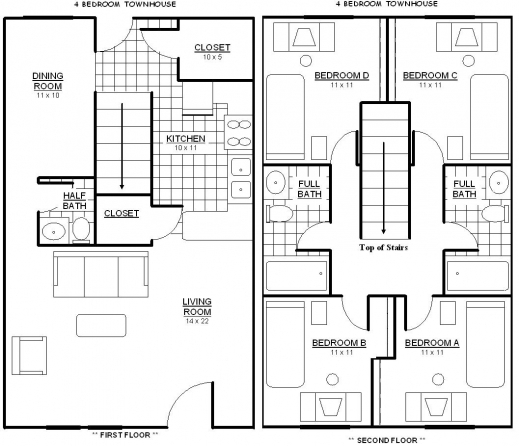 Marvelous Bedroom House Plans And You From On Pinterest 4 Bedroom Floor Four Bedroom Floor Plan Picture