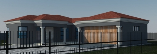 Marvelous 3 bedroom tuscan house plans in south africa for African house design