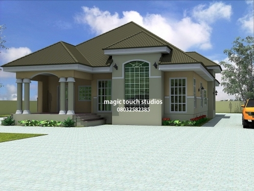 Fantastic House Plans Ghana 3 Bedroom House Plan For A Half Plot ...