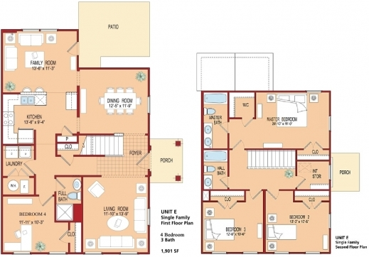 Marvelous view 4 bedroom floor plans amazing home design for Modern four bedroom house plans