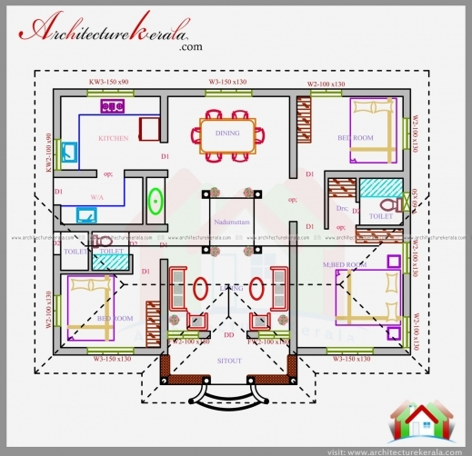 Incredible 3 bedroom house plans under 1200 square feet Home plan for 1200 sq ft indian style