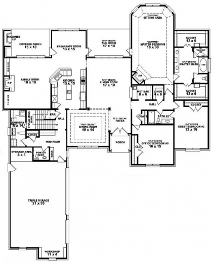 Outstanding 654275 3 Bedroom 35 Bath House Plan House Plans Floor Plans Floor Plan Of House 3 Bedroom Images
