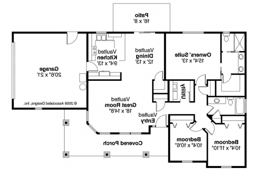 Outstanding Bungalow House Plans Strathmore 30 638 Associated Designs Bungalow Floor Plan With Elevation Photos