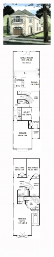 Remarkable 1000 Ideas About Narrow House Plans On Pinterest Narrow Lot 3 Bedroom House Plan On Half Plot Pic