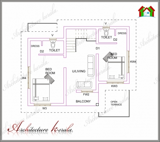 House plans kerala 1200 sq ft house floor plans for Kerala house plans 1200 sq ft