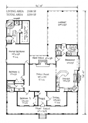 Remarkable farm house acadian house plans cottage home for Small acadian house plans