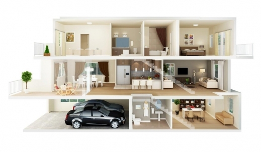 Stunning 1000 Images About 3d House Plans Amp Floor Plans On Pinterest 3d 3D Apartment & House Plan Image