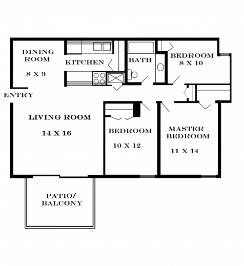 Stunning 2 or 3 bedroom house for rent 3 bedrooms small for Rental property floor plans