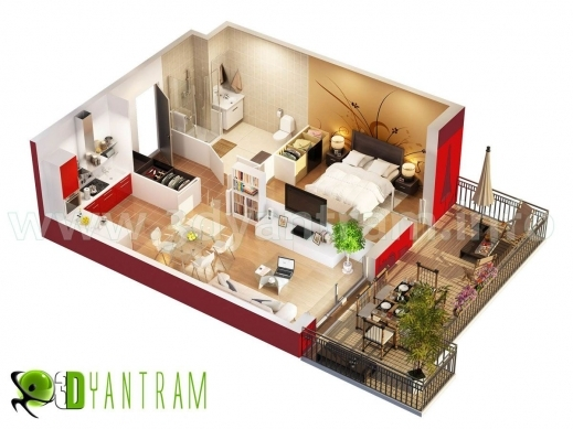 Stunning 3d Floor Plan Design Interactive Designer Planning For 2d Home 3d Plan Of House Images