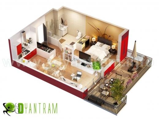Stunning 3d Floor Plan Design Interactive Designer Planning For 2d Home 3d Plan Of House Images