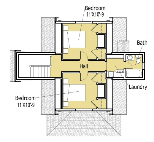 Stunning 3d Small House Floor Plans On 3d Tiny House Plans Download This Small Home Plan Images