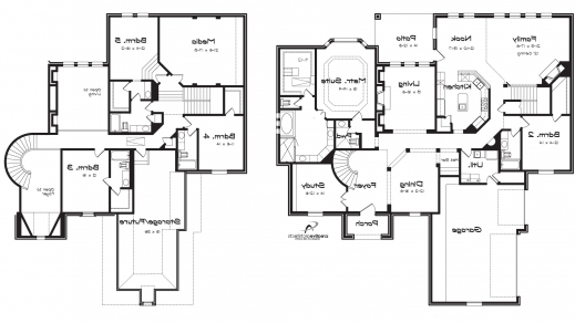 2 Story House Floor Plans With Basement 5 bedroom house plans 2 story