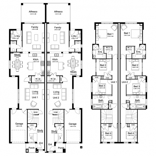 17 Best 1000 Ideas About Duplex Floor Plans On Pinterest: duplex floor plans with garage